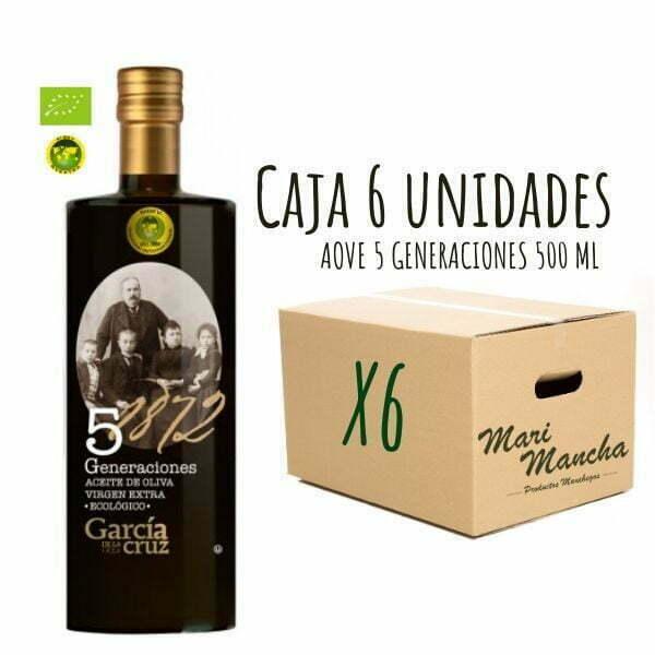 5 Générations de García de La Cruz 500ml boîte de 6 unités