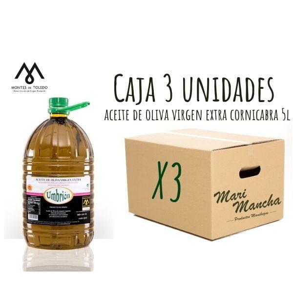 boîte 3 unités Huile d'olive Cornicabra de Umbrión 5L