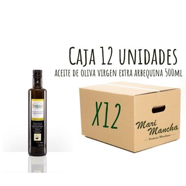 boîte 12 unités Huile d'olive Arbequina d'Umbrión 250ml