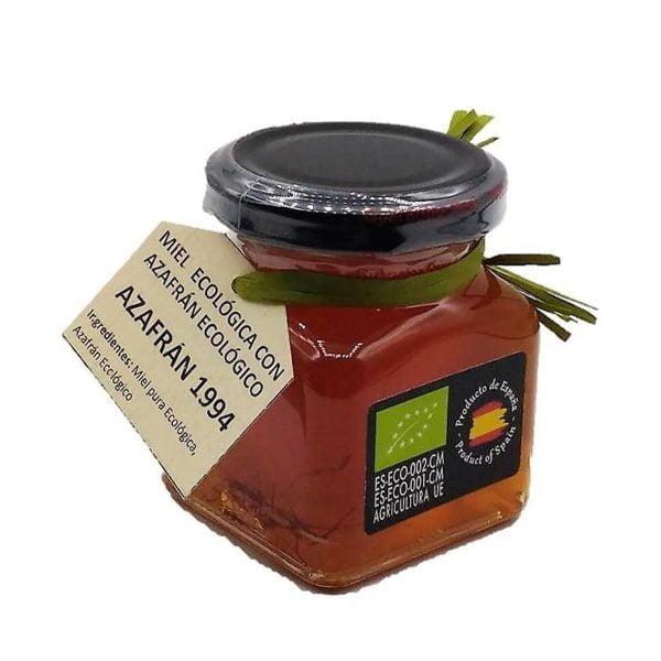 Miel ecológica con azafrán