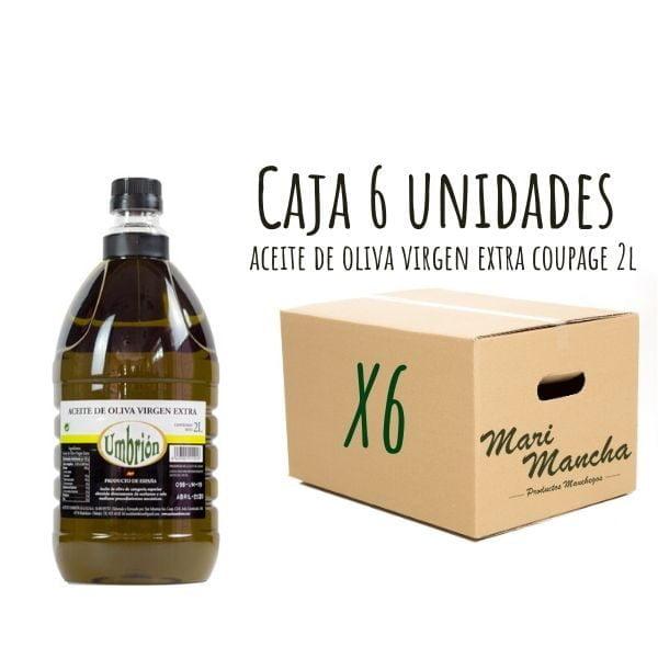 Huile d'olive Coupage Umbrión 2L boîte de 6 unités
