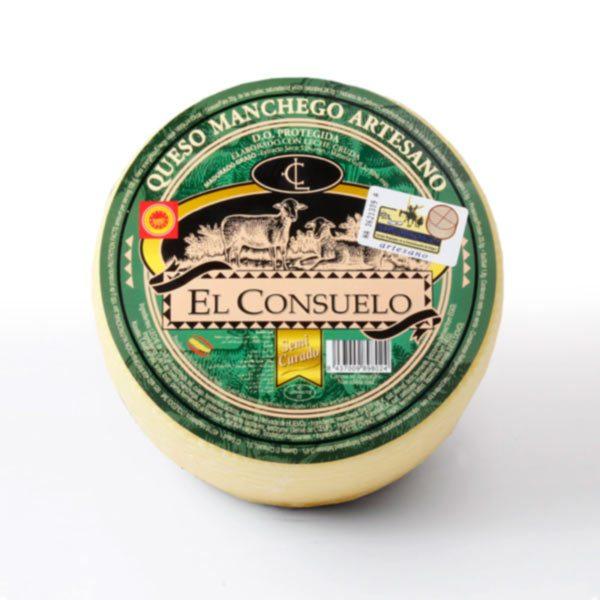 queso manchego el consuelo semicurado pequeño