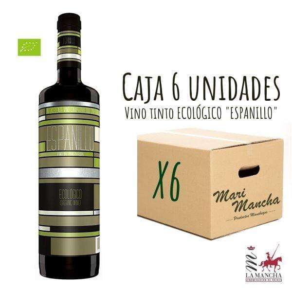 Espanillo au vin rouge biologique boîte de 6 unités