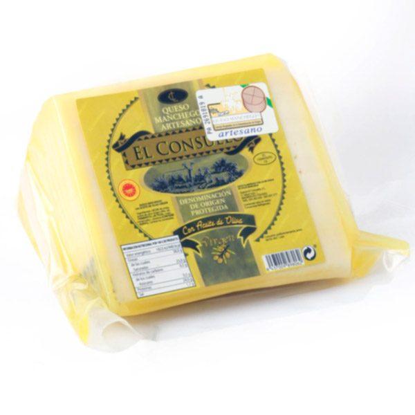queso manchego en aceite el consuelo porción