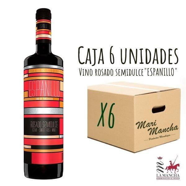vin rosé espagnol semi-doux coffret de 6 unités