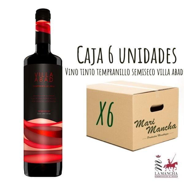 villa de vin rouge semi-sec abad boîte de 6 unités