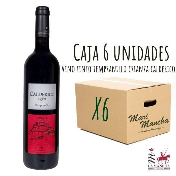 Boîte de vin Calderico Tempranillo Crianza de 6 unités