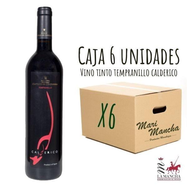 Vin Calderico Tempranillo Roble boîte de 6 unités