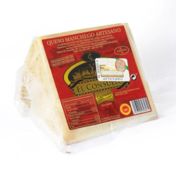 queso manchego el consuelo curado porción