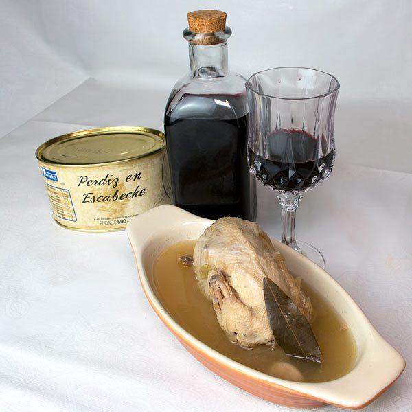 Assiette de perdrix marinée