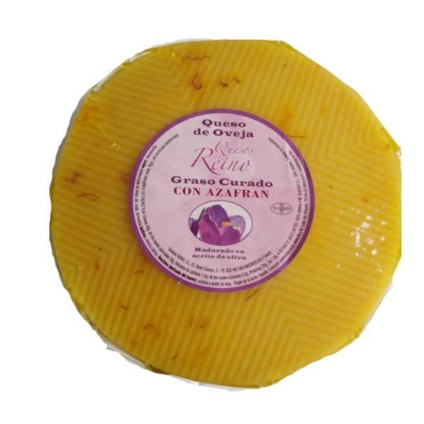 queso de oveja con azafrán y aove