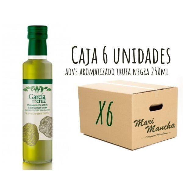 Boîte de 6 unités d'huile d'olive parfumée à la truffe noire