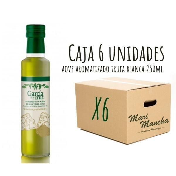 Boîte de 6 unités d'huile d'olive parfumée à la truffe blanche