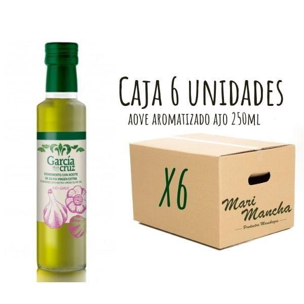 Boîte de 6 unités d'huile d'olive parfumée à l'ail